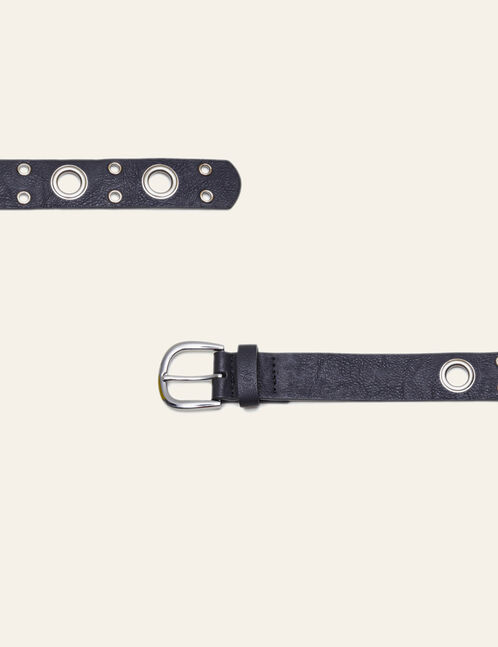 Black belts with eyelets
