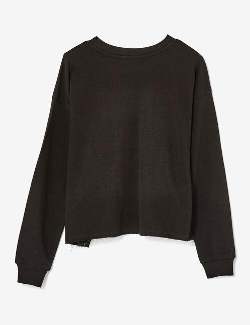 Black sweatshirt with lacing detail