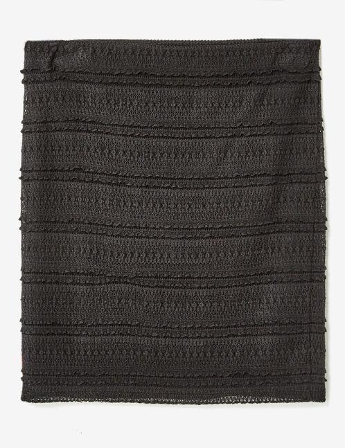 Black lace tube skirt