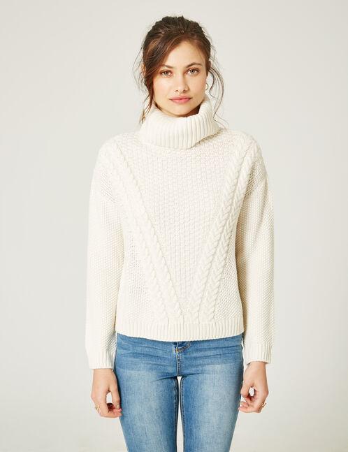 Cream polo neck jumper