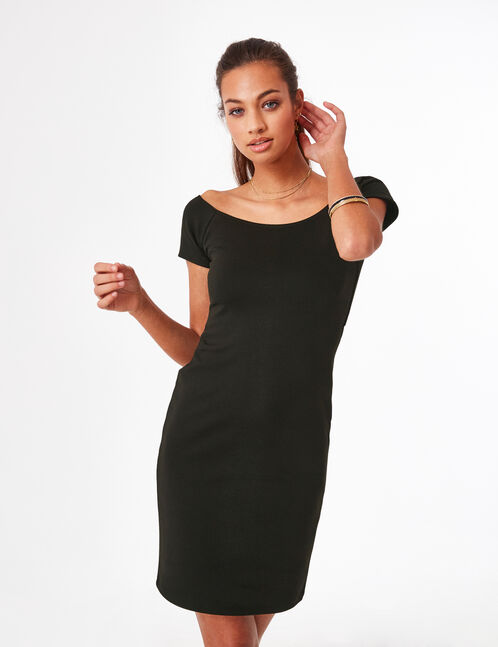 Black dress with back tie detail
