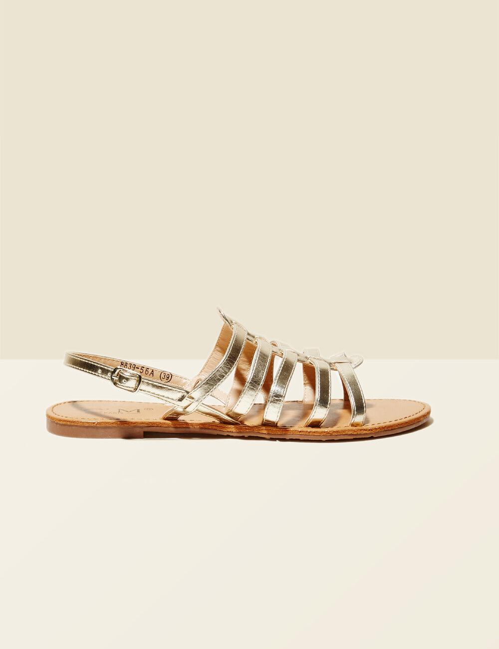 sandales spartiates dor es femme jennyfer. Black Bedroom Furniture Sets. Home Design Ideas