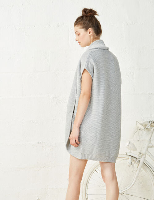 Grey marl short sleeve cardigan