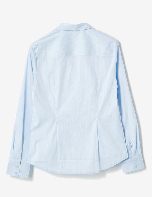 chemise cintrée bleu clair