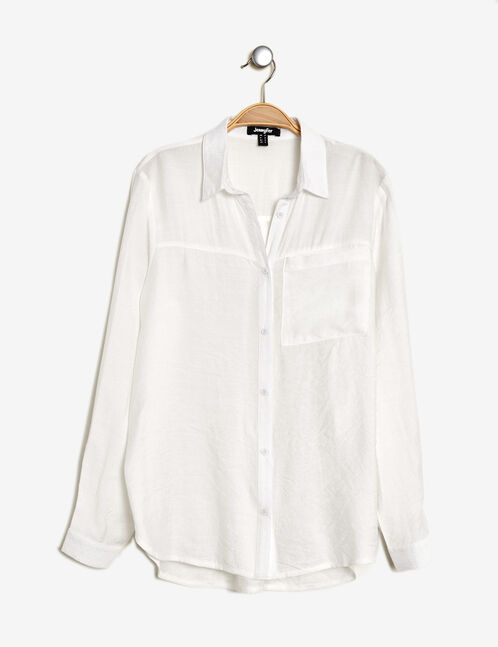 Cream lightly textured shirt