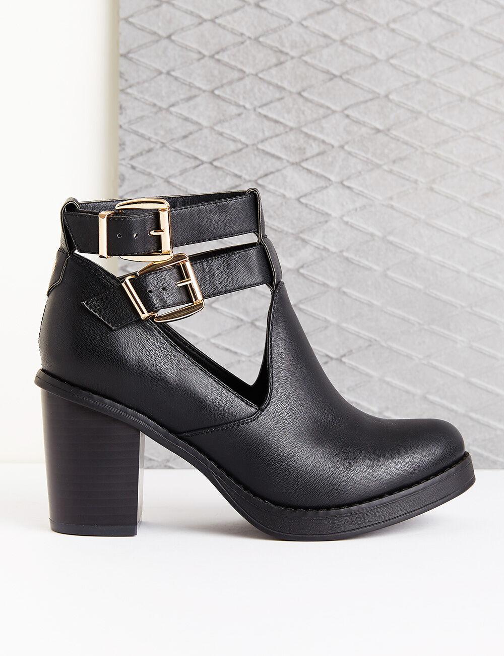 bottines simili cuir noires femme jennyfer. Black Bedroom Furniture Sets. Home Design Ideas