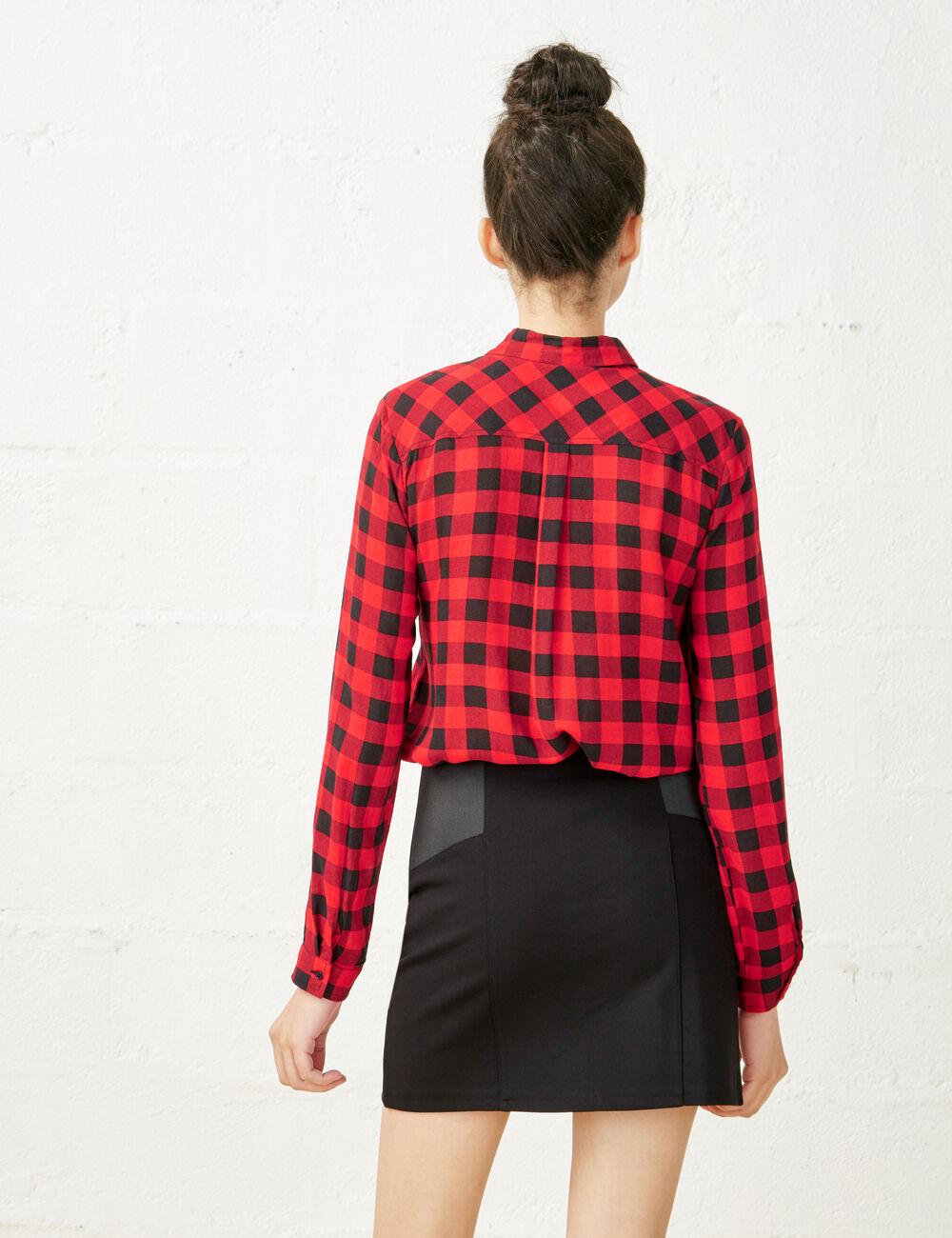 chemise carreaux rouge et noir femme jennyfer. Black Bedroom Furniture Sets. Home Design Ideas