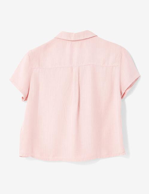 chemise courte rose clair