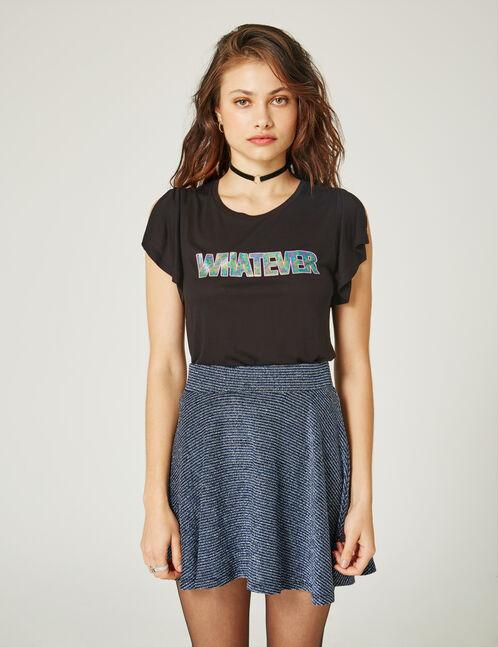 "Black ""whatever"" T-shirt"