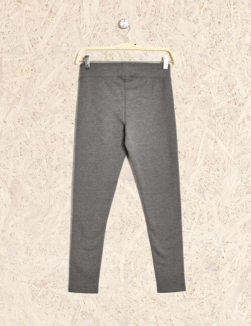 pantalon fitness basic gris anthracite chiné