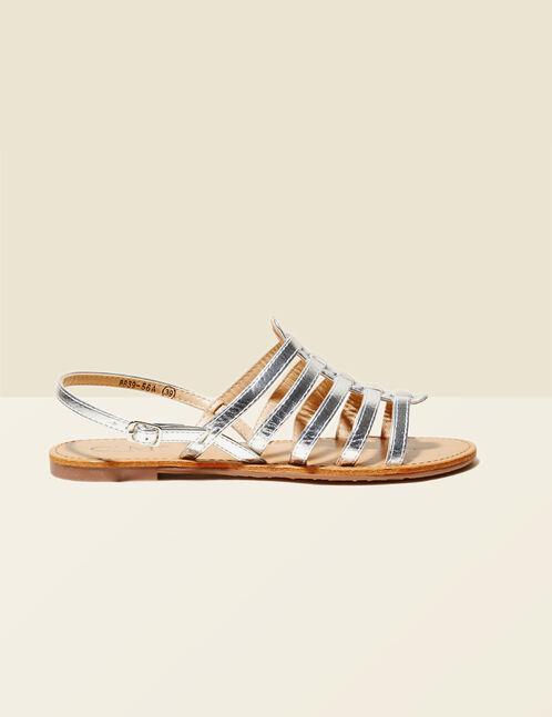 sandales spartiates argentées