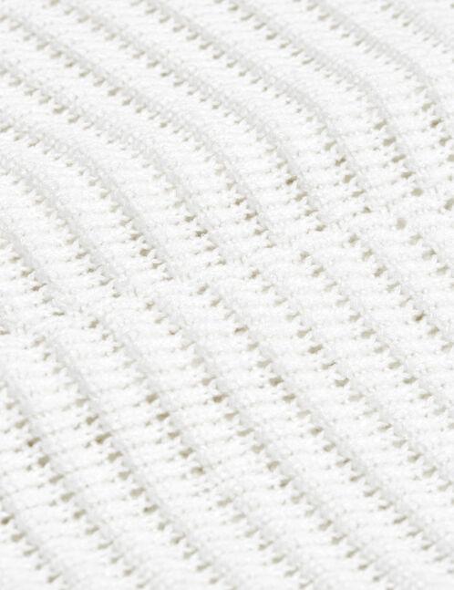 Cream textured loose-fit jumper