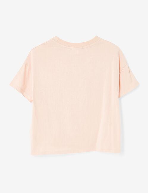 Light pink printed crop top
