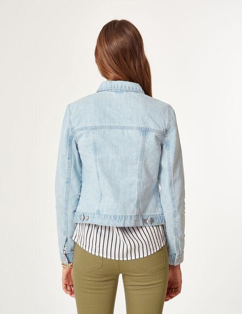 Khaki trousers with eyelet detail