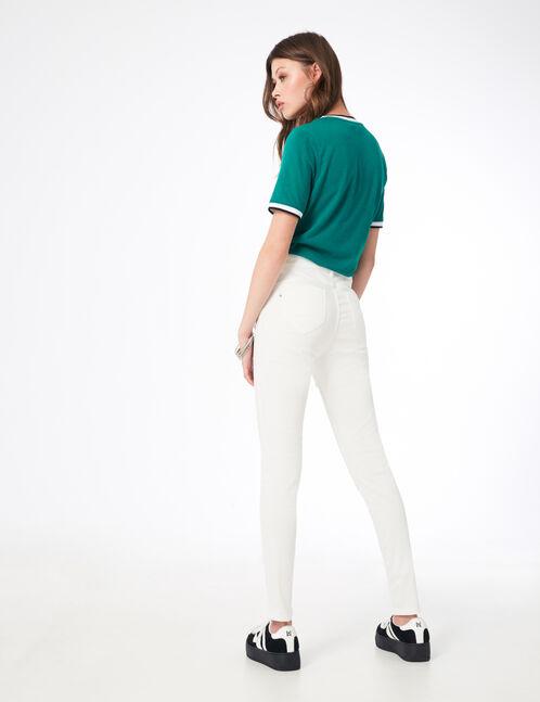 pantalon skinny push-up blanc