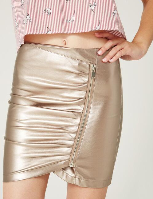 Bronze zipped skirt