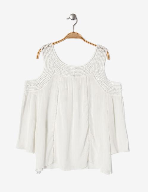 Cream macramé detail blouse