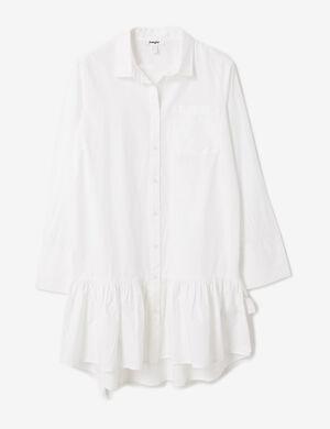 robe avec volant blanc