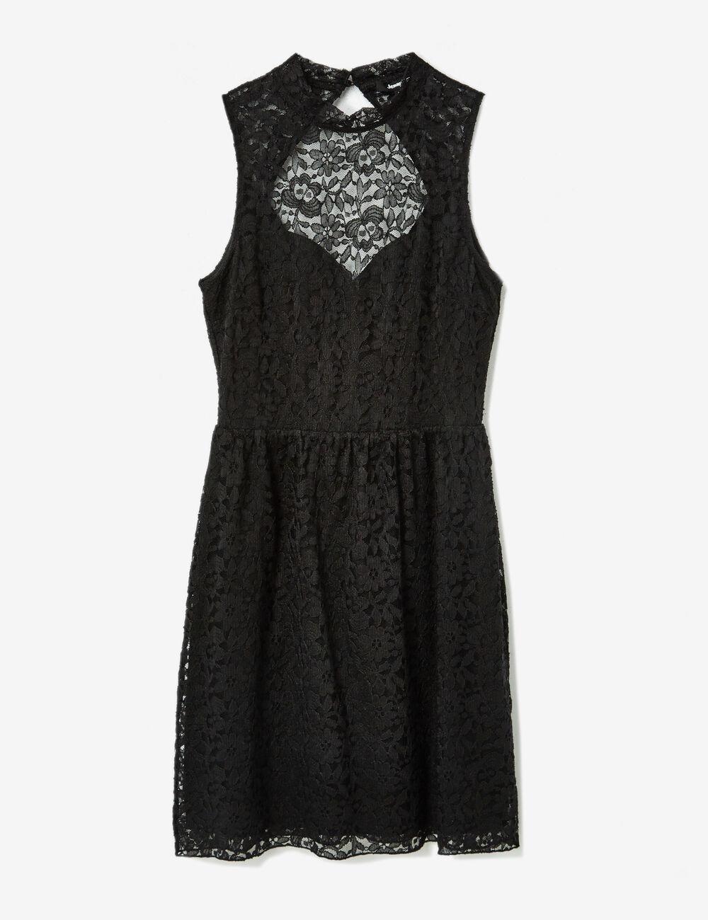 robe en dentelle noire femme jennyfer. Black Bedroom Furniture Sets. Home Design Ideas