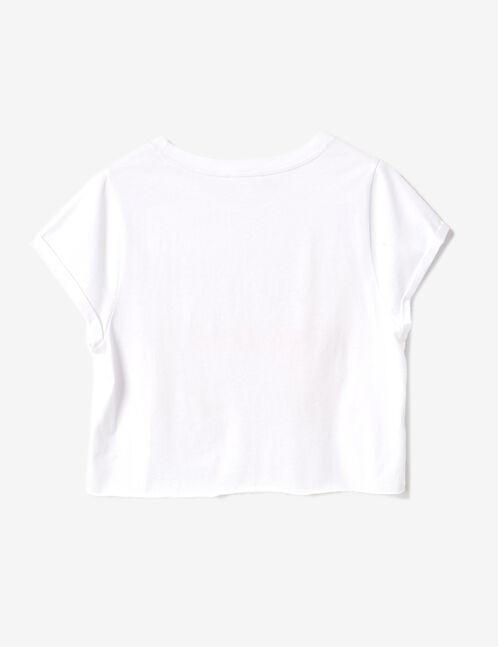 White printed crop top