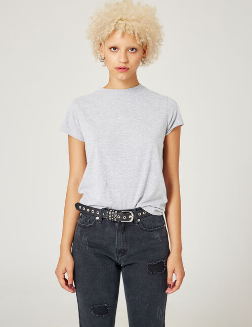 tee-shirt basic gris chiné