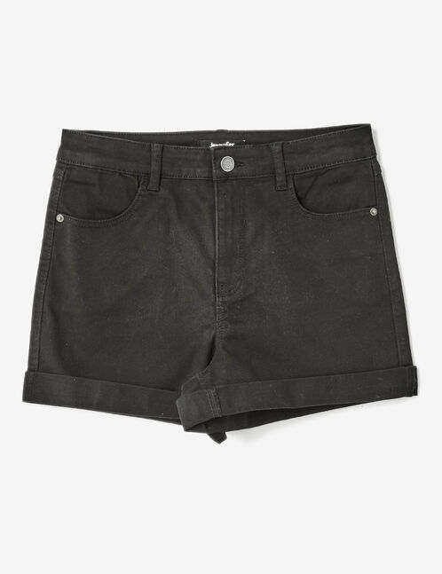 Black roll-up shorts