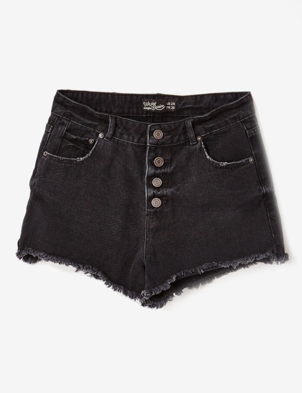 short en jean taille haute noir femme jennyfer. Black Bedroom Furniture Sets. Home Design Ideas