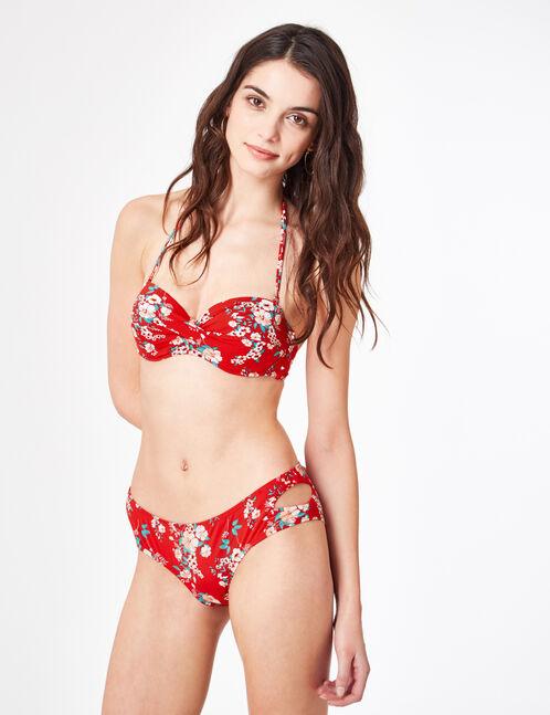 Red floral bikini briefs