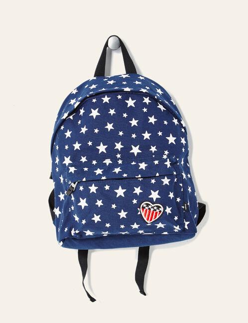 Navy blue Americana-inspired backpack