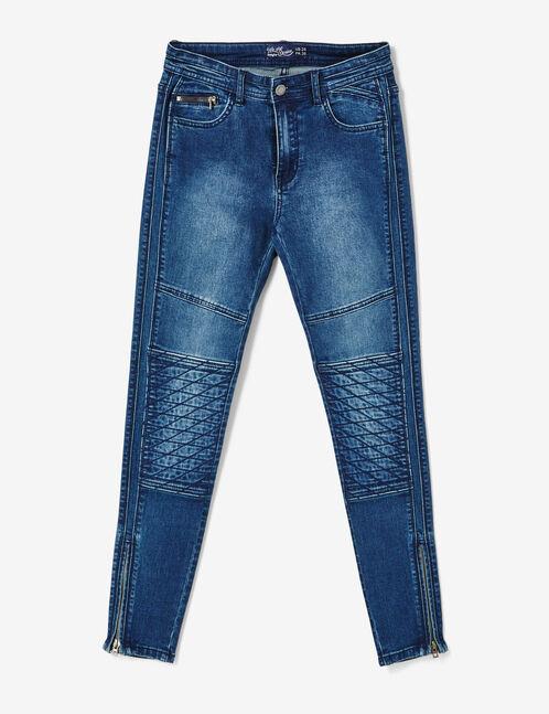 Medium blue biker jeans
