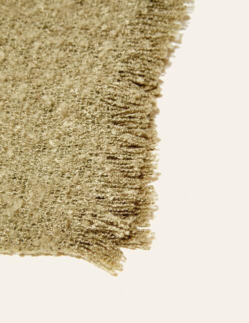 Khaki textured scarf
