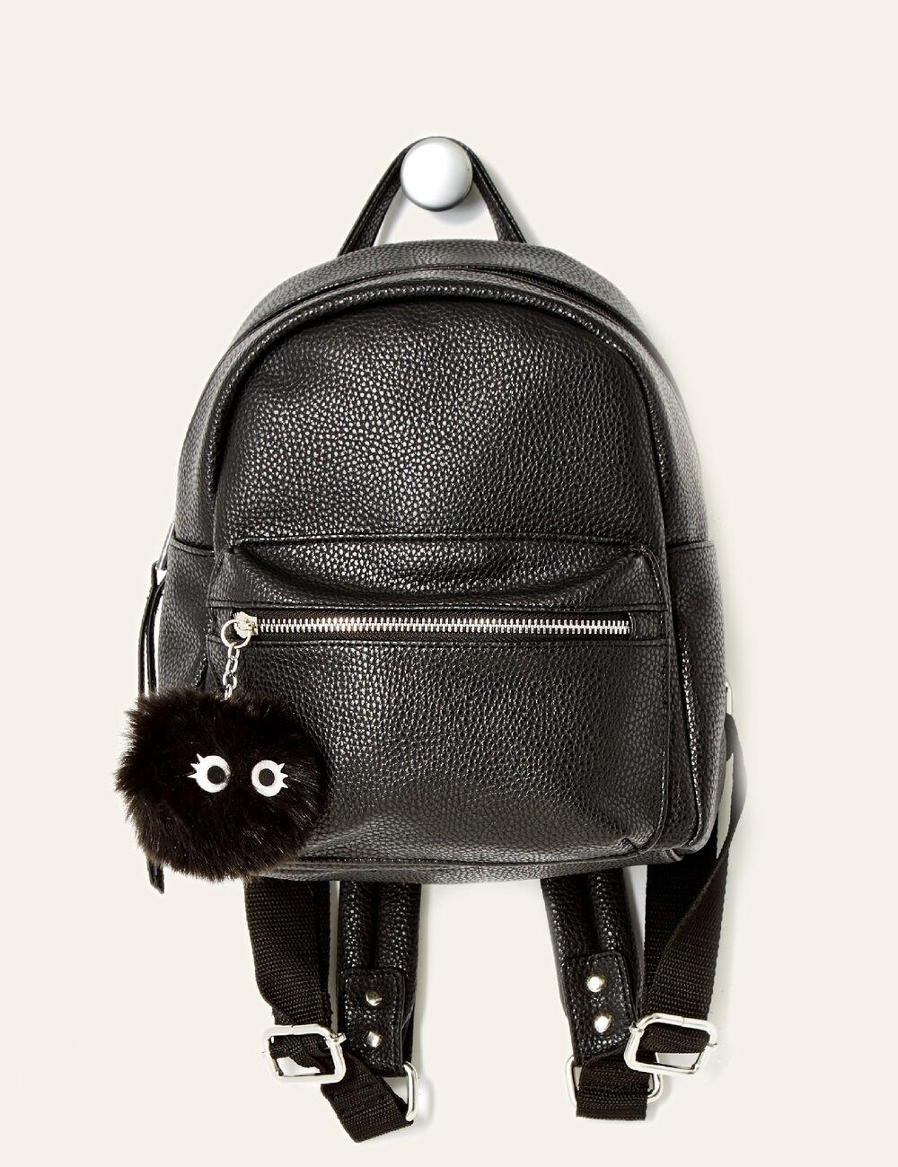 petit sac dos avec pompon noir femme jennyfer. Black Bedroom Furniture Sets. Home Design Ideas