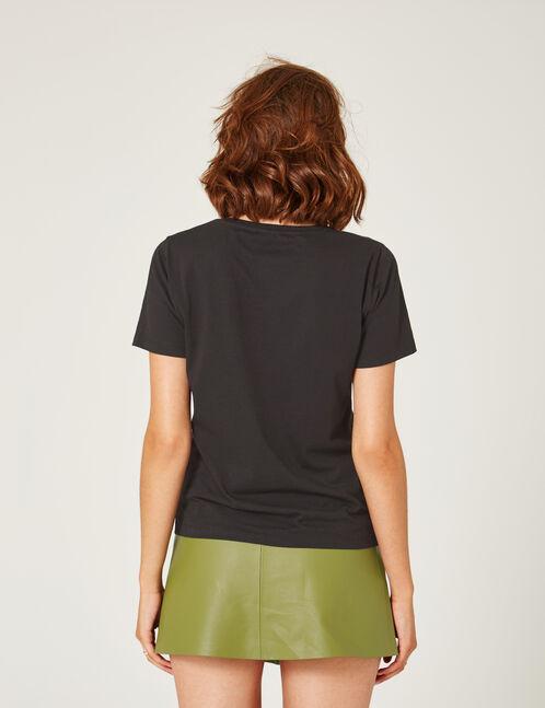 Black panda T-shirt