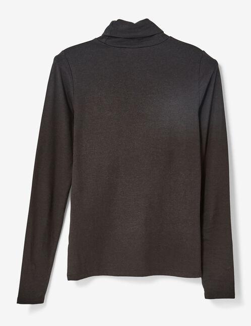 Basic black polo neck top