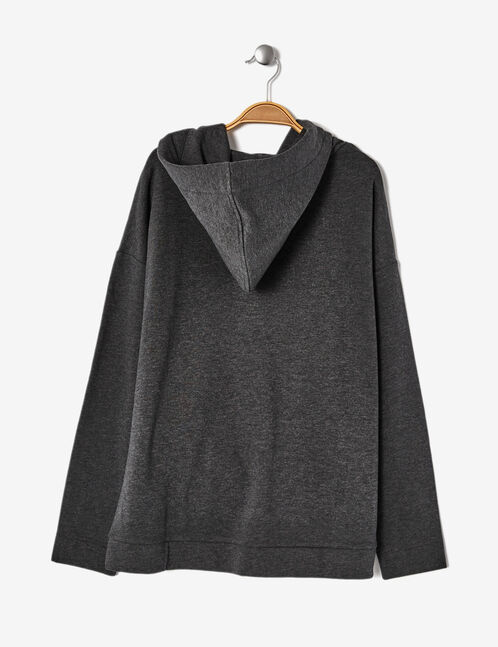 sweat long oversize gris anthracite chiné
