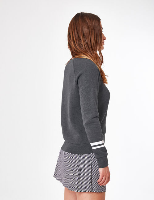 sweat gris anthracite chiné