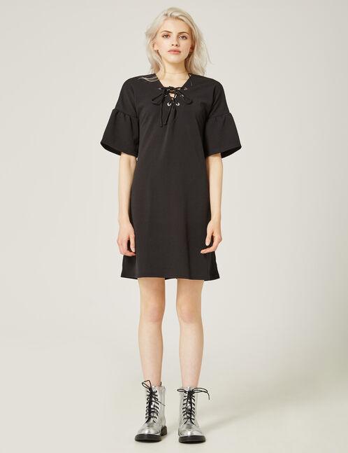 robe avec laçage noire
