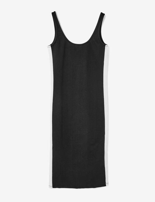 robe tube avec bandes noire