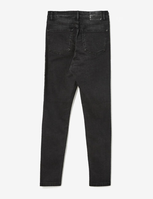 Black high-waisted super skinny jeans