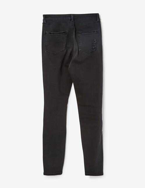 Black trousers with charm detail