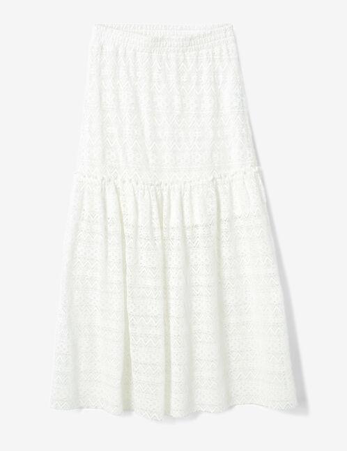 Cream lace maxi skirt