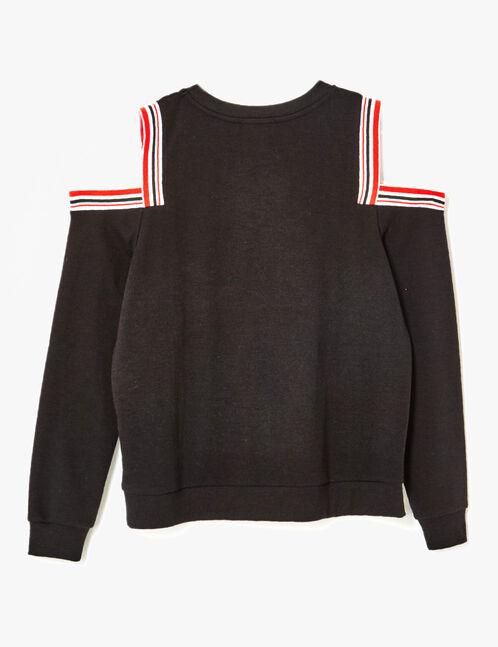 Black cold shoulder sweatshirt