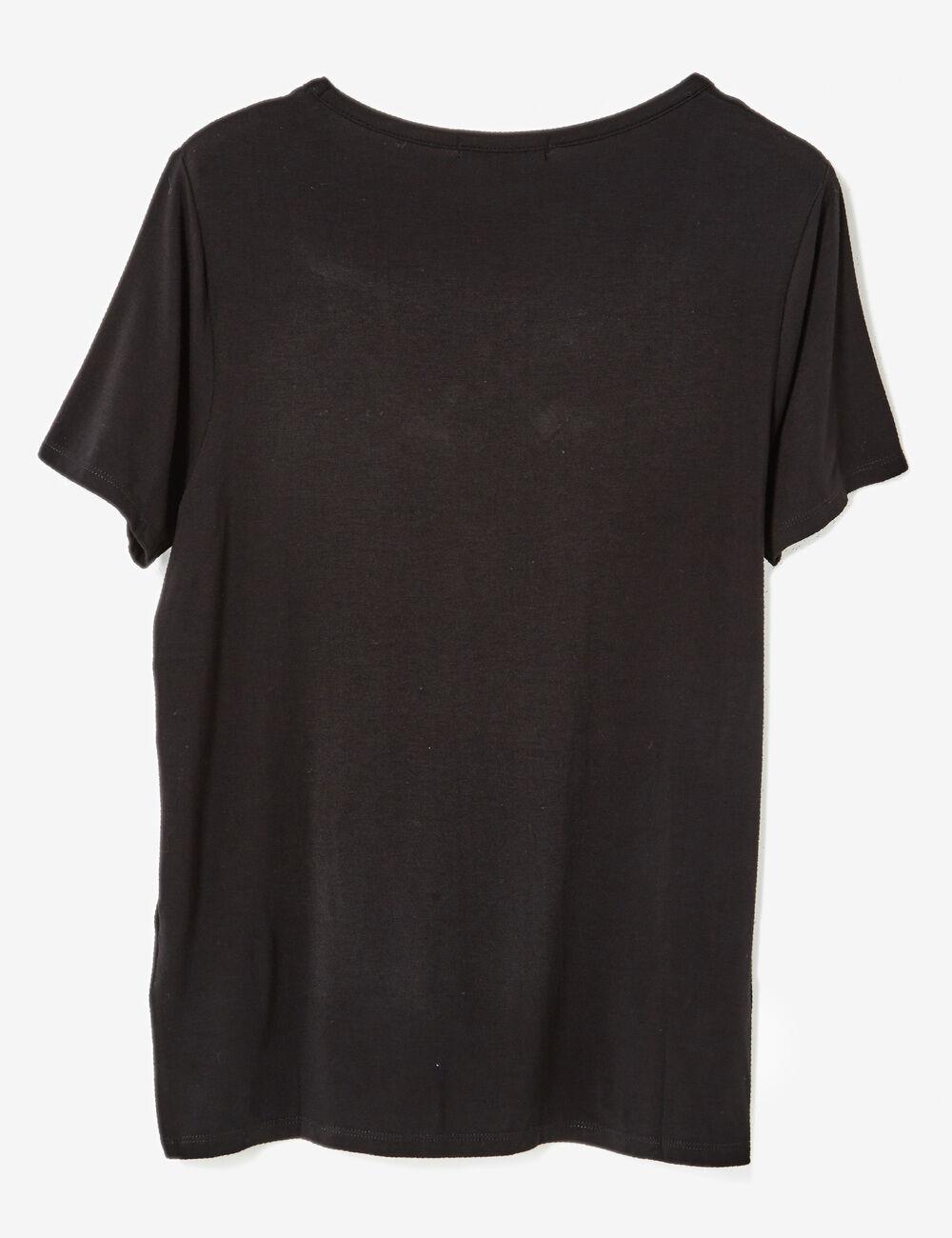tee shirt avec liens noir femme jennyfer. Black Bedroom Furniture Sets. Home Design Ideas