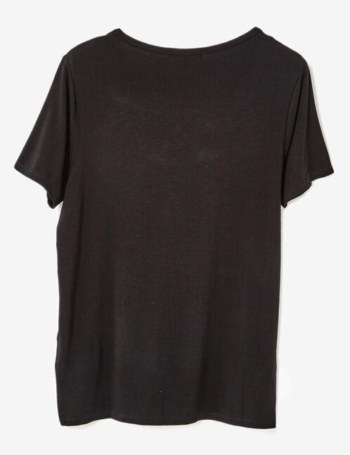 tee-shirt avec liens noir