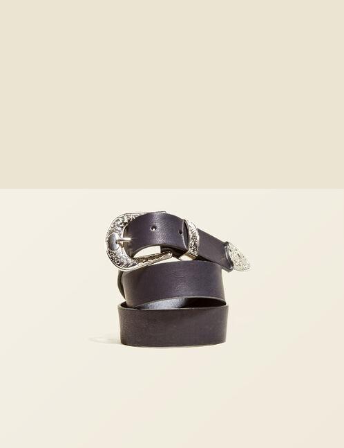 Black western-style belt