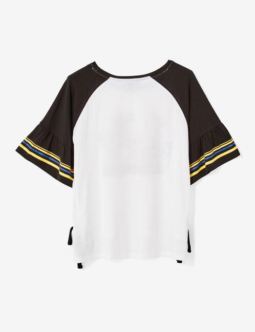 tee-shirt bicolore noir et blanc
