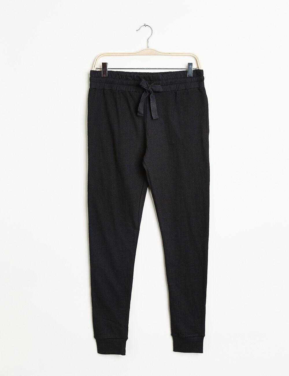 Pantalon de jogging noir femme jennyfer for Pantalon de cuisine noir