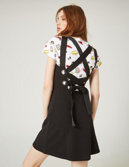 robe avec laçage dos noire