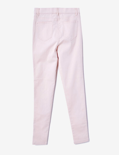 Light pink high-waisted jeggings