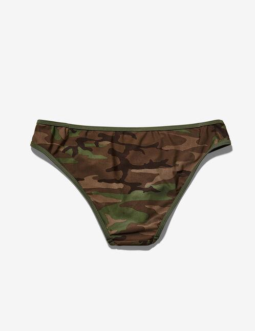 Khaki camouflage bikini briefs